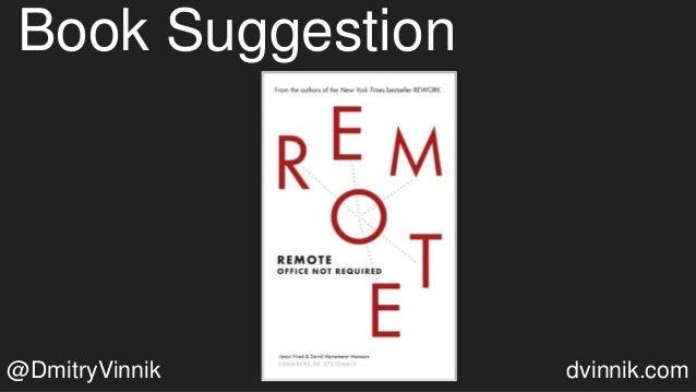 Book Suggestion @DmitryVinnik dvinnik.com