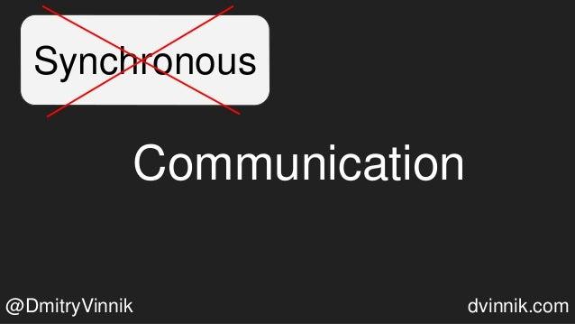 Synchronous Communication @DmitryVinnik dvinnik.com