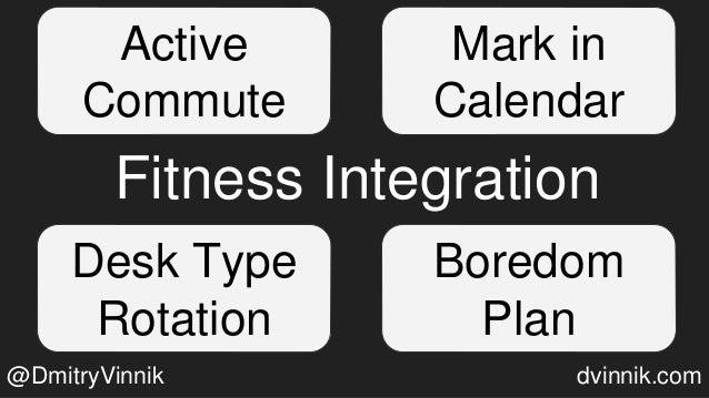 Fitness Integration Mark in Calendar Desk Type Rotation Boredom Plan Active Commute @DmitryVinnik dvinnik.com