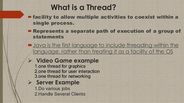 Threads in JAVA Slide 2