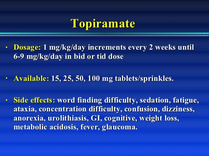 Topamax 25 Mg Twice A Day Weight Loss