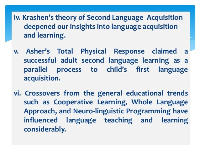 Second and Foreign Language Teaching Methods
