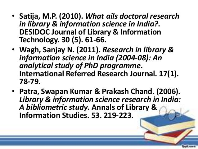 Abstract: Keywords: DOAJ, LIS journals, Bibliometric Study ...