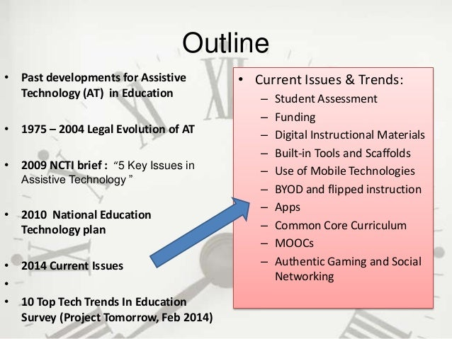 assistive technology in special education research papers Assistive technology funding sources for schools once an educational team has determined a student's assistive technology needs,  special education technology center.