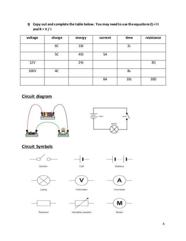 current and voltage in series and parallel worksheet – Circuit Diagram Worksheet