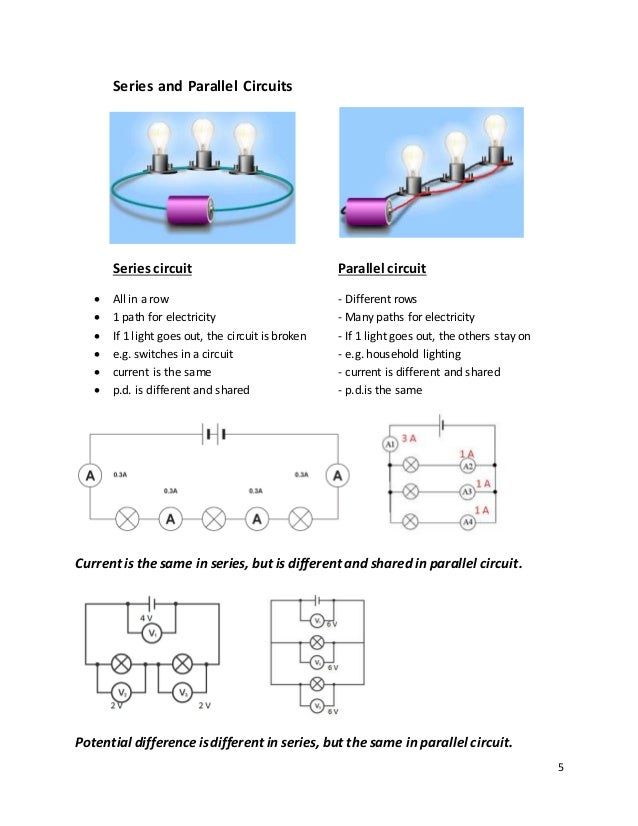 current and voltage in series and parallel worksheet – Series Parallel Circuit Worksheet