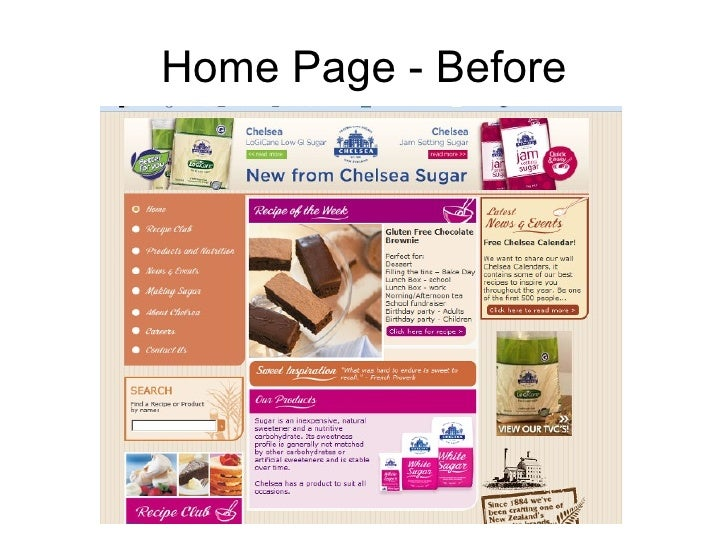 Home Page - Before