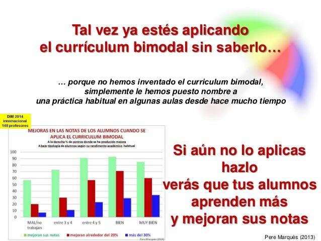 El curriculum bimodal en Matemáticas, Tecnología, Física y Química Slide 2