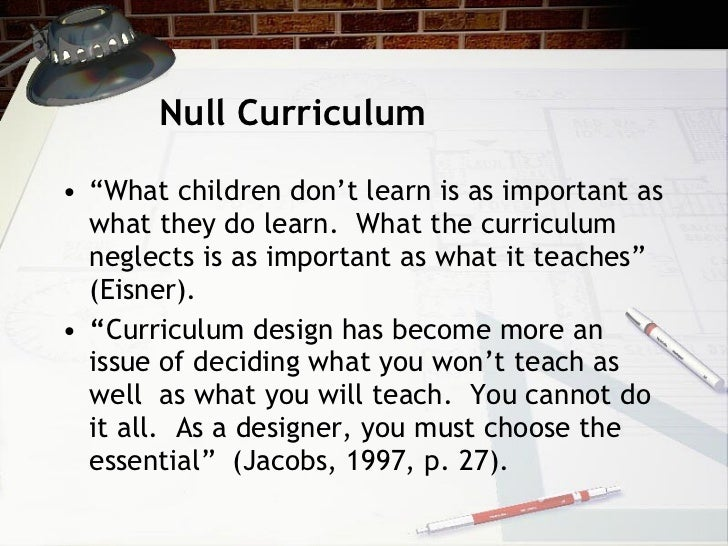 null curriculum definition