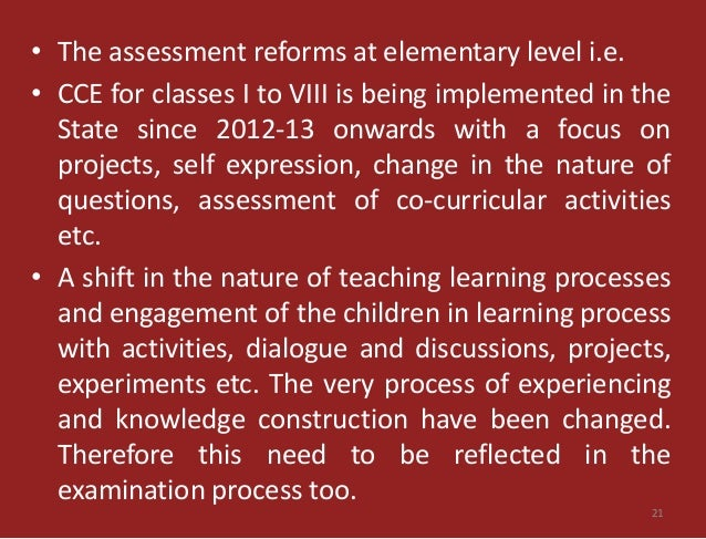 examination reforms View webinar archive: reforms to higher education in india   assessment, and end-of-semester examinations for evaluation.