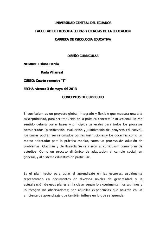 UNIVERSIDAD CENTRAL DEL ECUADORFACULTAD DE FILOSOFIA LETRAS Y CIENCIAS DE LA EDUCACIONCARRERA DE PSICOLOGIA EDUCATIVADISEÑ...