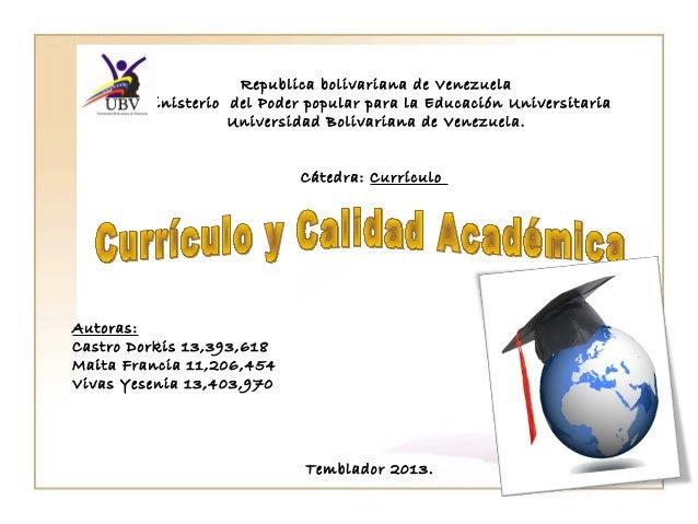 Republica bolivariana de Venezuela Ministerio del Poder popular para la Educación Universitaria Universidad Bolivariana de...