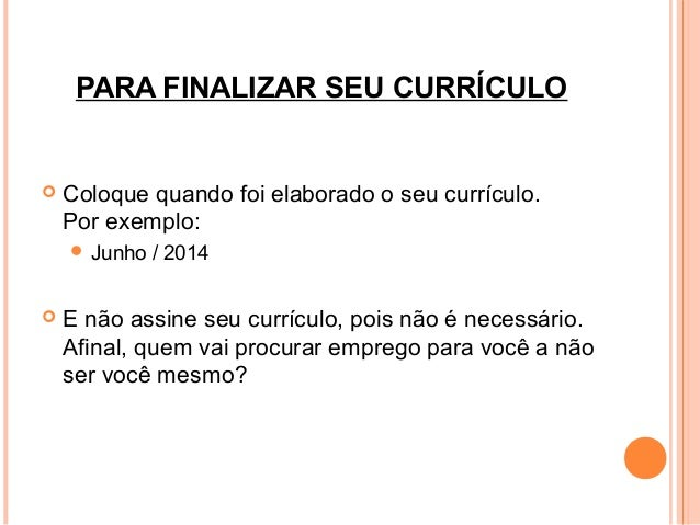 curriculo exemplo