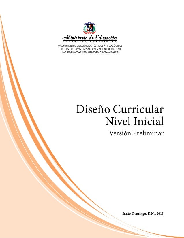 Curriculo inicial educacion dominicana 2014 for Curriculum de nivel inicial