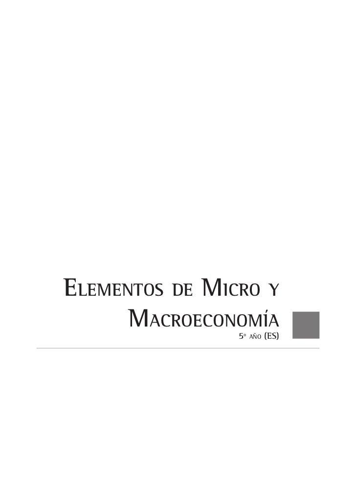 elementOs De miCrO y      maCrOeCOnOmía                5º   añO   (es)
