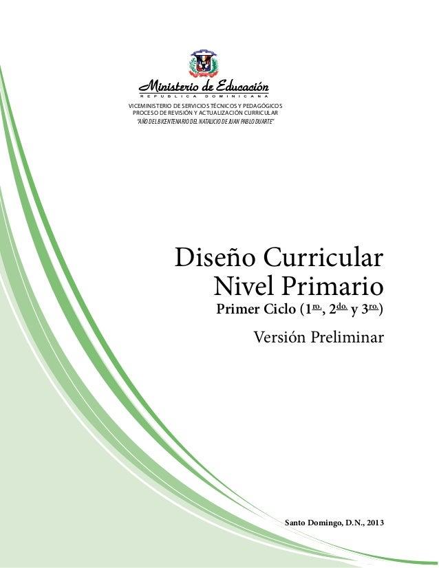 Curriculo nivel primario dominicano 2016 for Diseno curricular nacional 2016 pdf