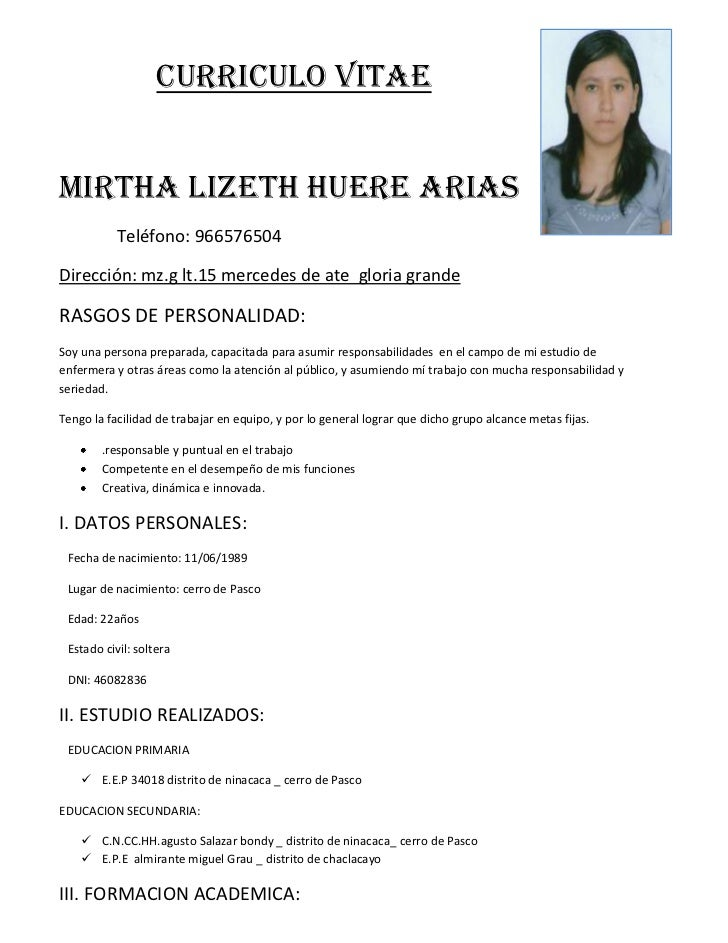 Formato De Un Cv April Mydearest Co