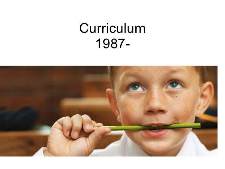 Curriculum 1987-