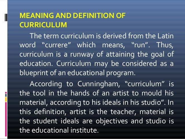definition of curriculum Schools that align curriculum are better able to meet student academic needs  learn how leadership teams can build a structure for curriculum alignment in  your.