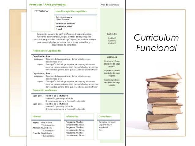 ejemplo de curriculum vitae funcional o tem tico