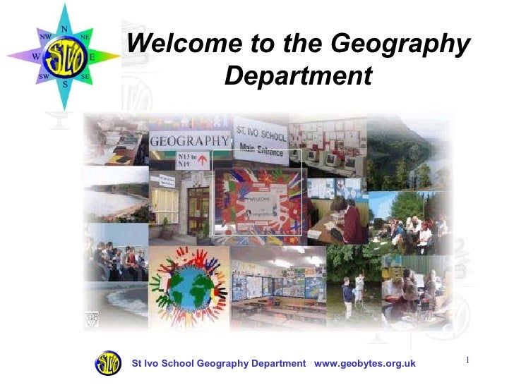 Welcome to the Geography Department