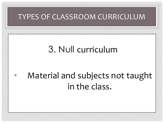 what is null curriculum