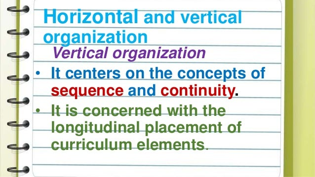difference between horizontal and vertical organization