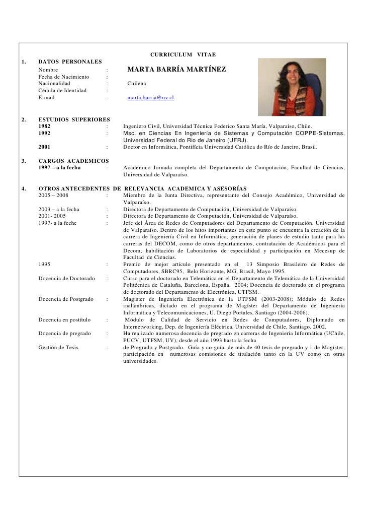 Curriculum Vitae telematica.usm