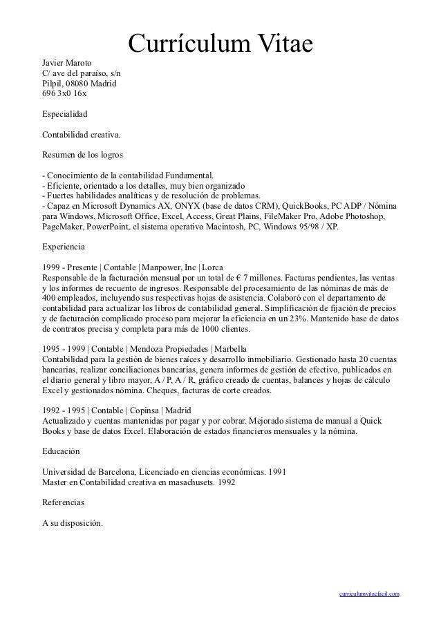 Contemporáneo Perfil De Currículum De Cuentas Por Cobrar India ...
