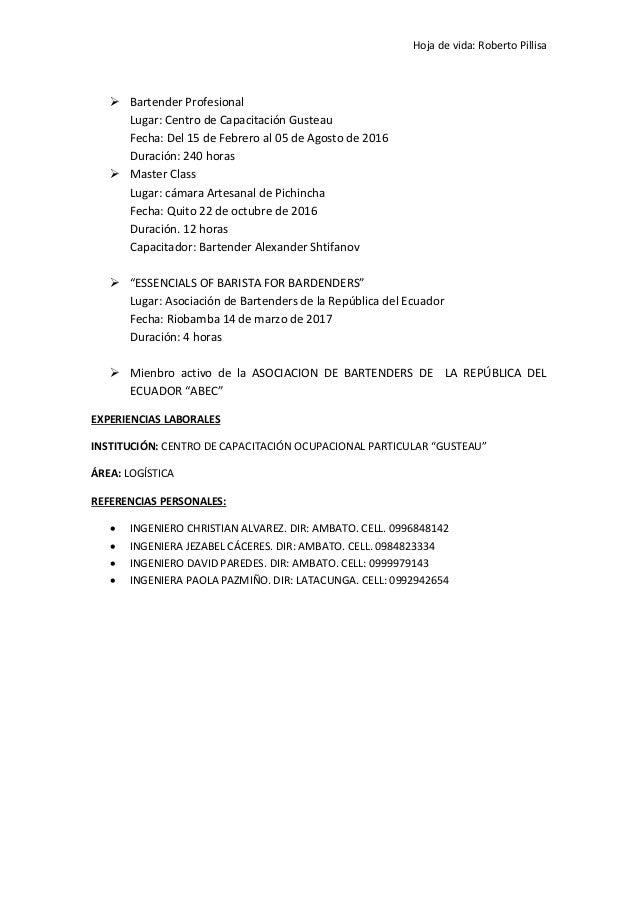 Curriculum vitae- roberto- pillisa