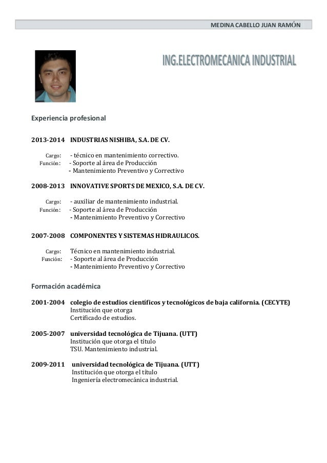Curriculum Vitae Juan Medina