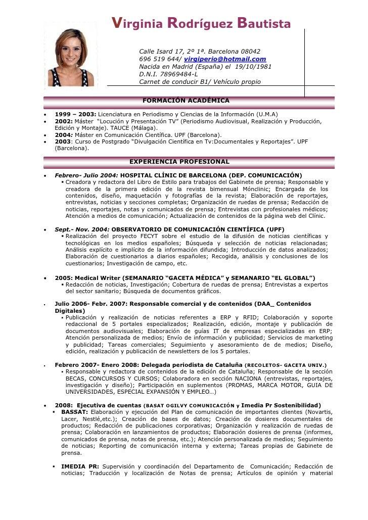 Curriculum Virginia R.B