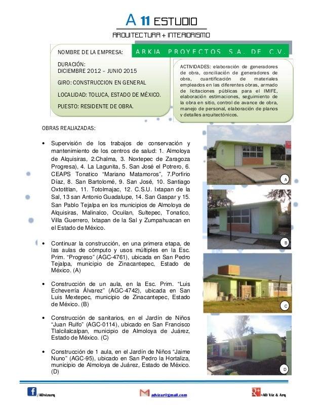 Curriculum a11 estudio
