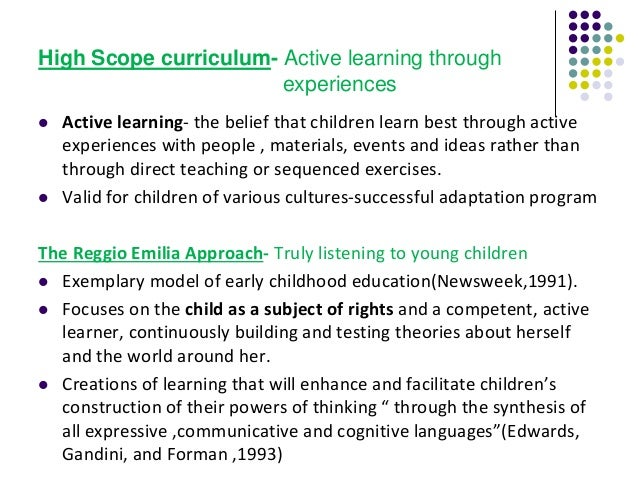 Curriculum and pedagogy in early childhood curriculum