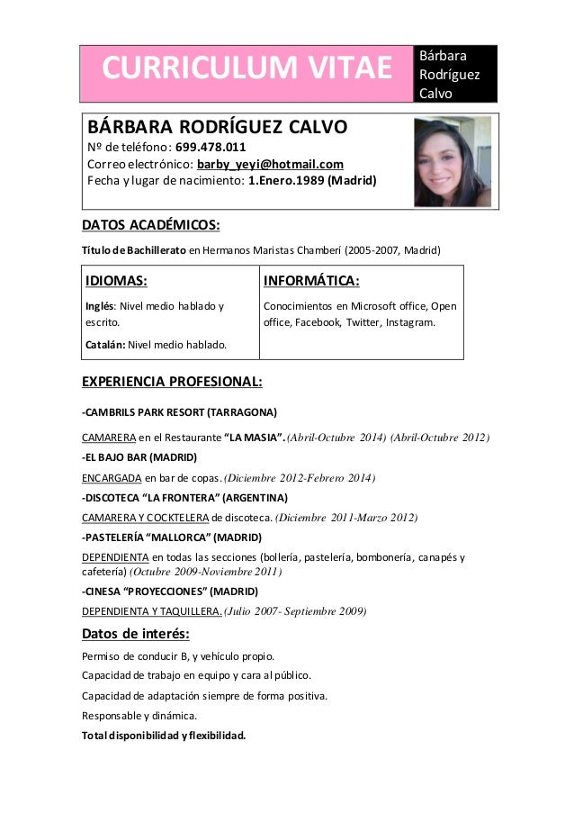 curriculum barbara
