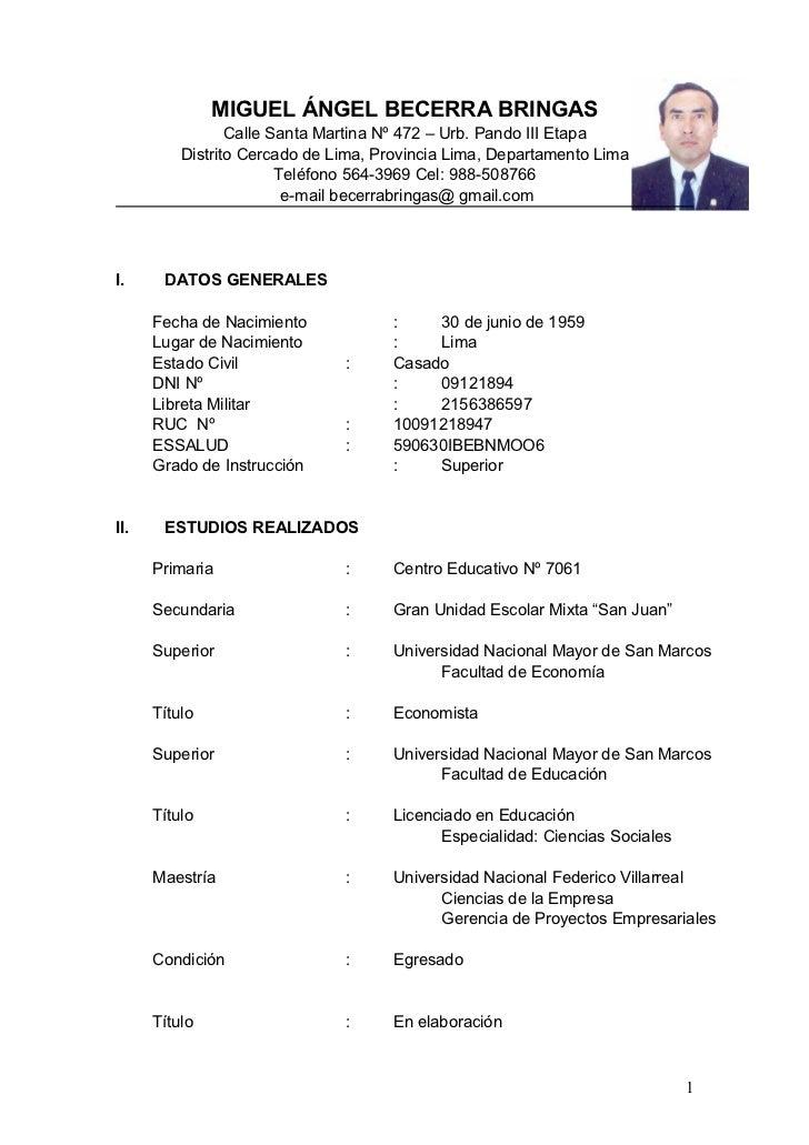 Curriculum Becerra Bringas 2011