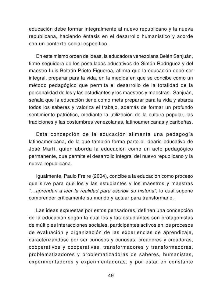 Curriculum bolivariano