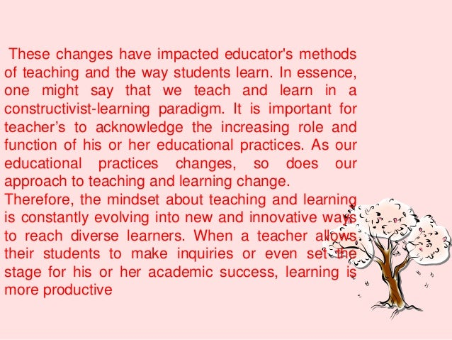 Innovative Classroom Practices In The Light Of Constructivism In ~ Curriculum centered learning and overview of