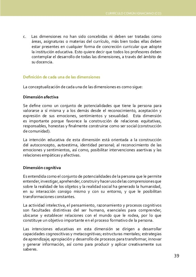 Curriculum Común Ignaciano