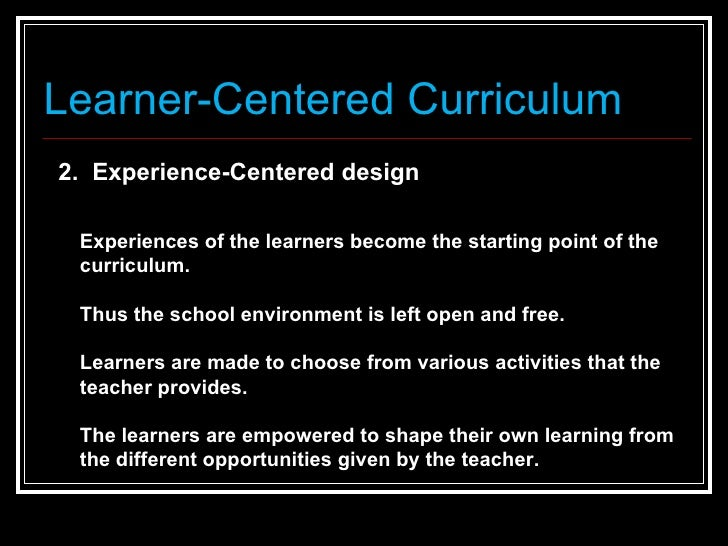activity centered curriculum William chandler bagley (1874-1946) and william heard kilpatrick (1871-1964) had opposing philosophies of education in the school curriculum and in the curriculum of life how would each of the two educators teach learners so that the latter might progress in an optimal manner bagley and the.