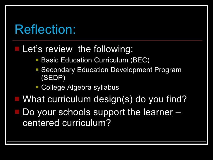 Chapter Standards-Based Curriculum and Assessment Design