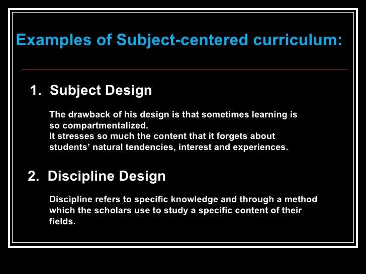 define subject centered curriculum