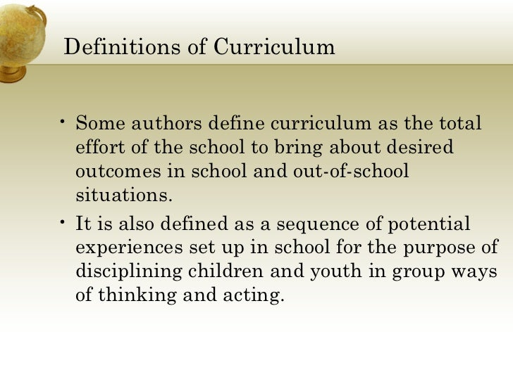 operational curriculum definition