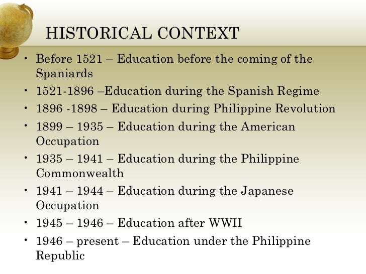 philosophy of philippine education Philosophy of philippine education aurelio o elevazo, rosita a elevazo published 1995 by national bookstore in metro manila, philippines written in english.