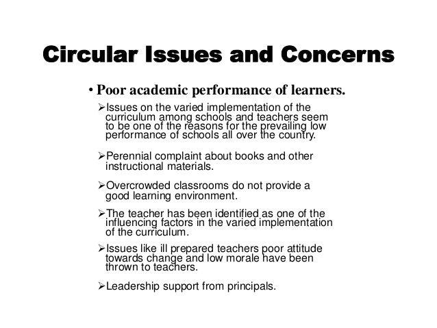 curriculum development curriculum issues concerns and responses
