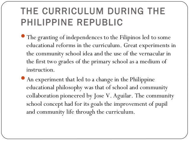 curriculum development in philippines Every journey begins with the first step the curriculum development process systematically organizes what will be taught, who will be taught, and how it will be.