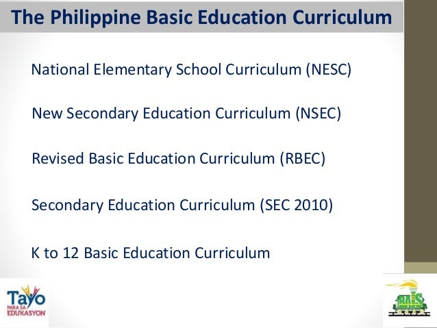 Curricular innovation in basic education in philippines