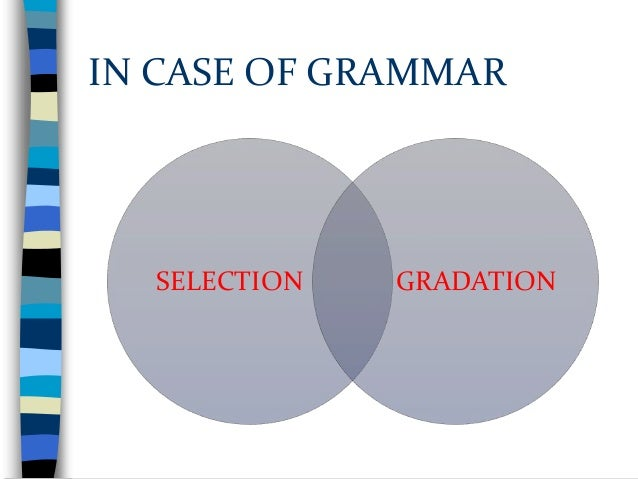 The approaches to gradation Communicative need: despite difficulty, some structures are needed early on in acquisition. • ...