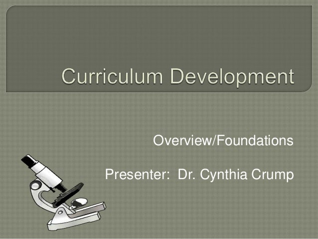 Overview/Foundations Presenter: Dr. Cynthia Crump