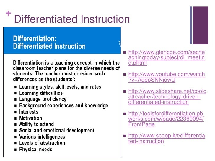 differentiated instruction       glencoe com  sec  teachingto u2026